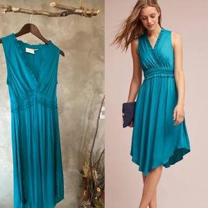 Anthropologie La Havana Turquoise dress